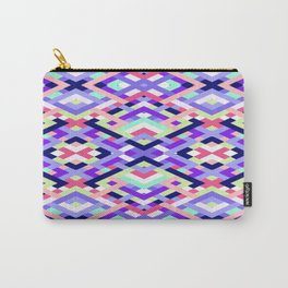 Smart Diagonals Coral Carry-All Pouch