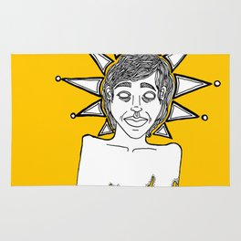 untitled (melting head with crown) Rug