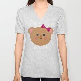 Dressy Bear Unisex V-Neck