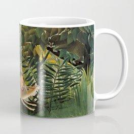 "Henri Rousseau ""A Lion Devouring its Prey"", 1905 Coffee Mug"