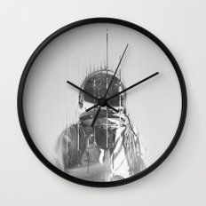 The Space Beyond B&W Astronaut Wall Clock