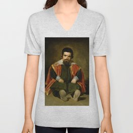 """Diego Velázquez """"Don Sebastian de Morra"""" Unisex V-Neck"""