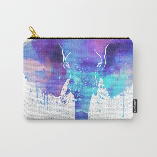 Watercolor Elephant Head Carry-All Pouch