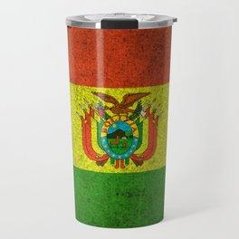 Old and Worn Distressed Vintage Flag of Bolivia Travel Mug