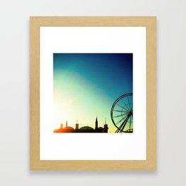 the wheel Framed Art Print