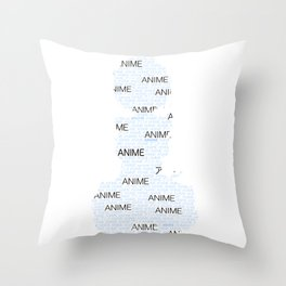 Anime Inspired Shirt Throw Pillow