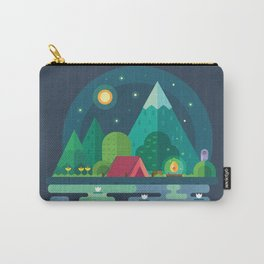Night camping in mountains Carry-All Pouch