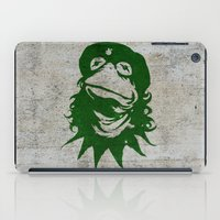 kermit iPad Cases featuring Viva la Frog! by 6amcrisis
