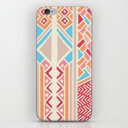 Tribal ethnic geometric pattern 033 iPhone Skin
