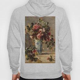 Pierre-Auguste Renoir's Roses and Jasmine in a Delft Vase Hoody