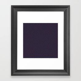Pink dot on a blue Framed Art Print