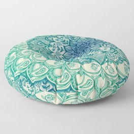 Emerald Doodle Floor Pillow
