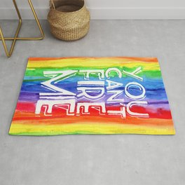 YOU CAN'T FIRE ME - LGBT RIGHTS Rug