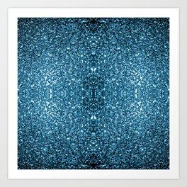 Beautiful Baby blue glitter sparkles Art Print