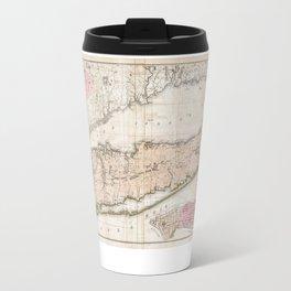 Long Island New York 1842 Mather Map Travel Mug