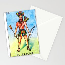 El Apache Mexican Loteria Bingo Card Stationery Cards