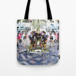 Bring in knowledge, etch words all looking kindly. Tote Bag