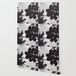 Jungle Canopy - Black and White Wallpaper