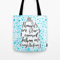 tfios Tote Bags featuring TFIOS by IndigoEleven