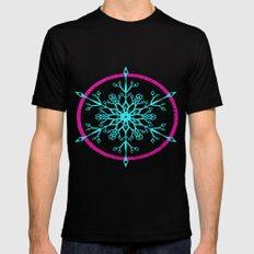 Dream-catching a Snowflake MEDIUM Black Mens Fitted Tee