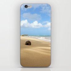 Loquillo Beach Photography - Turquoise Ocean, Blue Sky, Warm Golden Sand iPhone & iPod Skin