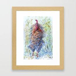 Rooster Shake it Framed Art Print