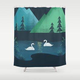 Moonlight Swim Shower Curtain