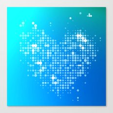Heart2 Blue Canvas Print