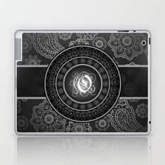 Monogrammed Aridi O Black and White Laptop & iPad Skin
