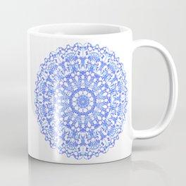 Mandala 12 / 3 eden spirit indigo blue Coffee Mug
