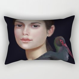 Miss Black Stork Rectangular Pillow