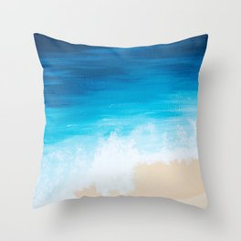 Above the Sea Throw Pillow