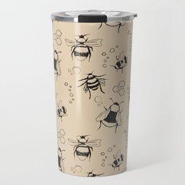 Honeybee Pattern Travel Mug