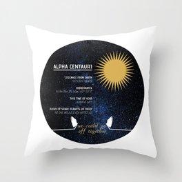 Alpha Centauri - Good Omens Fanart Throw Pillow