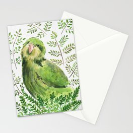 Kakapo in the ferns Stationery Cards