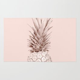 Pink Gold Pineapple Rug