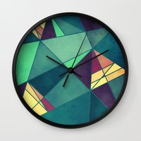 starry night Wall Clocks featuring Starry Night by VessDSign