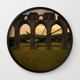 Arches of Llanthony Priory Wall Clock