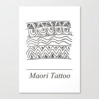 maori Canvas Prints featuring Maori Tattoo by Harvey Depp