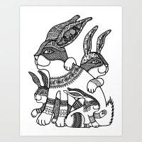 Rabbit Zen Art Print
