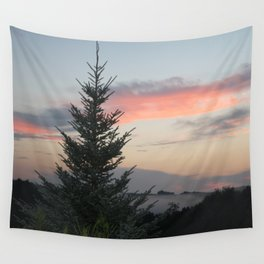 Mountain Top Tree Wall Tapestry