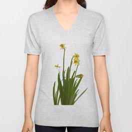 Narcissus flowers Unisex V-Neck