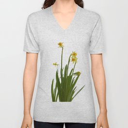 Narcissus flowers Unisex V-Neck