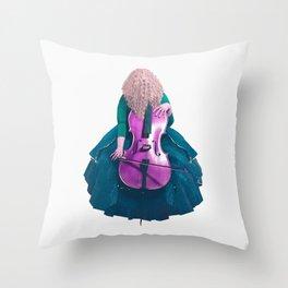 Forest Green Cellist II Throw Pillow