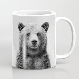 Grizzly Bear - Black & White Coffee Mug