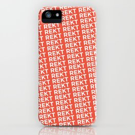 Rekt iPhone Case