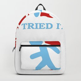I Tried It Home Science Blue Backpack