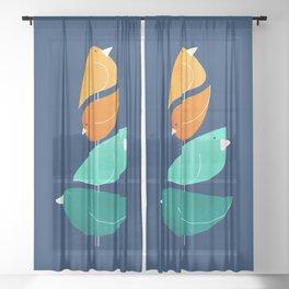Bird Stack III Sheer Curtain