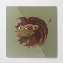 Leo (khaki) Metal Print