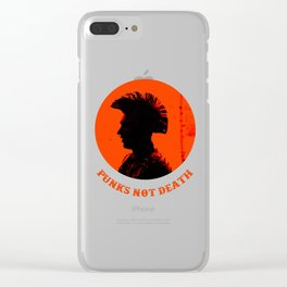 Punks not death Clear iPhone Case